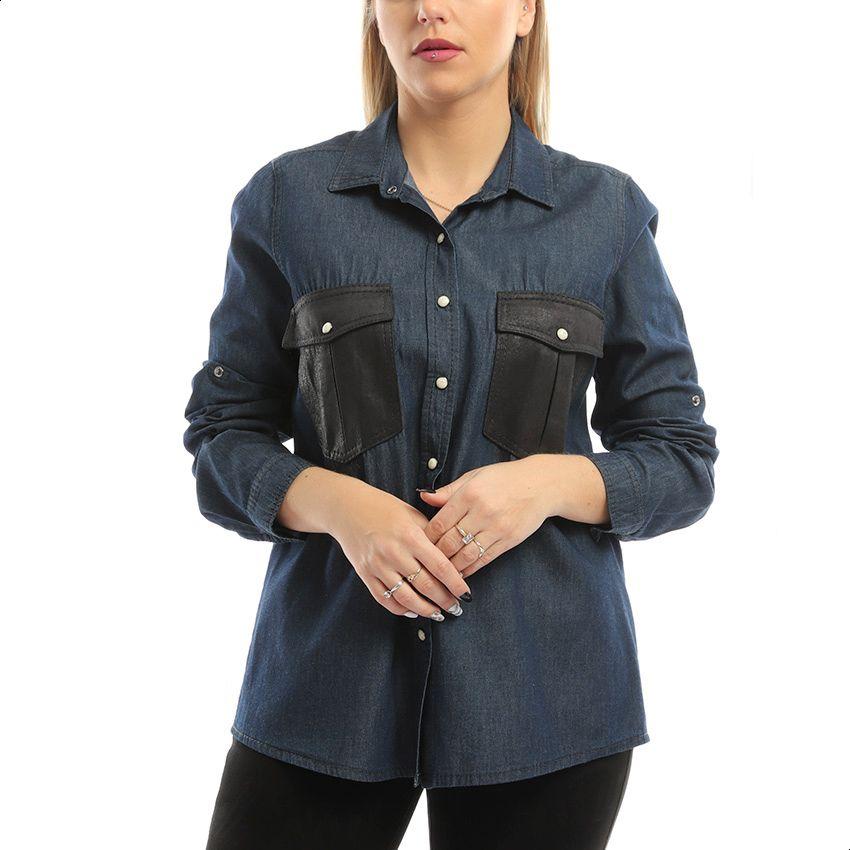Esla Shirt For Women - Navy Black-image