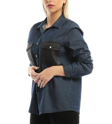 Esla Shirt For Women - Navy Black-image-2